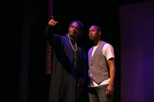 (L-R) Dameion Brown and Troy Rockett in WAAFRIKA 123. Photo: Cheshire Isaacs