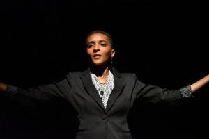 Jasmine Williams as Adrien. Photo: Jay Yamada