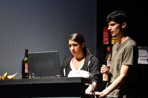 (L-R) Kimiya Shokri as Zoe and Yohana Ansari – Thomas as Josh. Photo: Jay Yamada