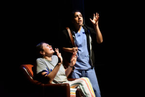 (L-R) Michelle Navarette as Pilar and Kimiya Shokri as Zoe. Photo: Jay Yamada