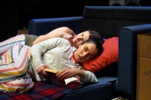 (Front) Neiry Rojo as Dani, (Back) Michelle Navarette as Pilar. Photo: Jay Yamada